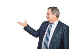 Free Mature Executive Man Make Presentation Stock Images - 18232804