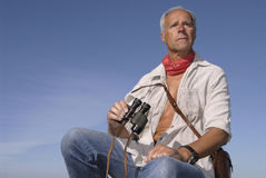 Mature explorer Royalty Free Stock Photography