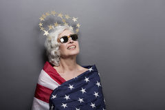 Mature fashion woman royalty free stock photos