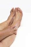 Mature feet Stock Photo