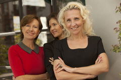 Mature female business women smiling royalty free stock image