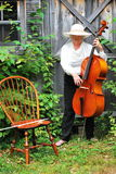Mature female cellist. Stock Photography