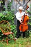 Mature female cellist. Stock Photography