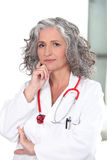 Mature female doctor Royalty Free Stock Image