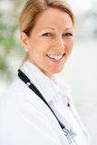 Mature female doctor Stock Image