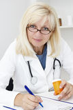 Mature female doctor portrait Royalty Free Stock Photo