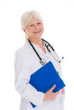 Mature female doctor smiling Royalty Free Stock Photo