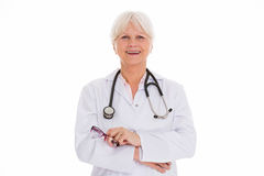 Mature female doctor smiling Stock Photo
