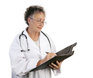 Mature Female Doctor Taking No Royalty Free Stock Photography