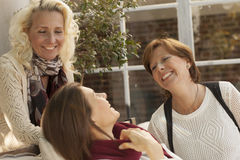 Mature female friends having fun Royalty Free Stock Image