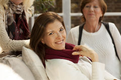 Mature female friends having fun Royalty Free Stock Photo