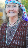 Mature female hippie. Royalty Free Stock Photography