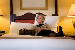 Mature female hotel guest Stock Image