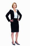 Mature female lawyer standing - White background Stock Photography