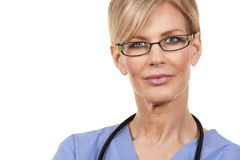 Mature female nurse Royalty Free Stock Photos