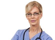 Mature female nurse Royalty Free Stock Images