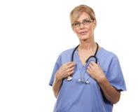 Mature female nurse Stock Images