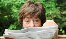 Mature Female Senior Royalty Free Stock Photo