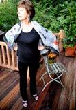 Mature female senior. stock photo