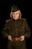Mature female soldier Royalty Free Stock Image