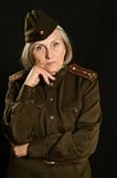 Mature female soldier Royalty Free Stock Photos