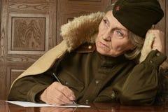 Mature female soldier Stock Photos