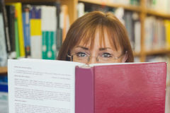 Mature female student reading a book Stock Image