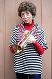 Mature Female Trumpet Player. Royalty Free Stock Photo