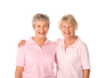 Mature femlae friends at the gym Royalty Free Stock Photo