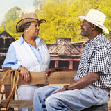 Mature Flirting Westerns Royalty Free Stock Photography