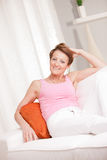 Mature fresh woman self-confident and happy Royalty Free Stock Photography