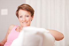 Mature fresh woman self-confident and happy Royalty Free Stock Images