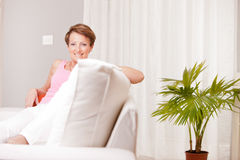 Mature fresh woman self-confident and happy Stock Photos