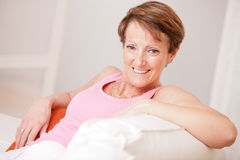 Mature fresh woman self-confident and happy Stock Photography
