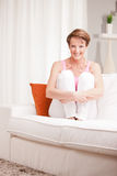 Mature fresh woman self-confident and happy Royalty Free Stock Photo