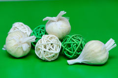 mature garlic closeup Royalty Free Stock Image