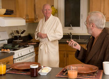 Mature gay couple Royalty Free Stock Photo