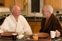 Mature gay couple Royalty Free Stock Images