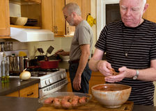 Mature gay couple Royalty Free Stock Photography