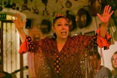 Mature gipsy woman dancing Stock Photo