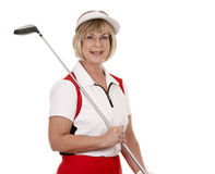 Mature golfer Stock Photos