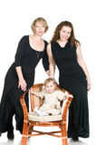 Mature grandmother, young mother and daughter Stock Images