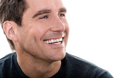 Mature handsome man close up portrait Stock Photos