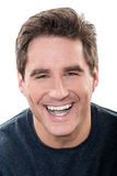 Mature handsome man laughing portrait Royalty Free Stock Images