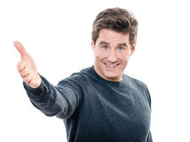 Mature handsome man welcoming portrait Royalty Free Stock Photo