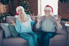Mature happiness. Portrait of two people nice beautiful cheerful stock image