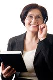 Mature happy business woman Stock Photo