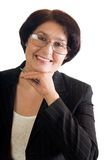 Mature happy business woman Royalty Free Stock Photography