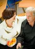 Mature happy couple Stock Images
