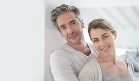 Mature happy couple enjoying their new house Royalty Free Stock Images
